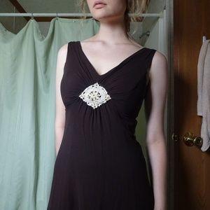 Jonathan Martin Petites Sleeveless Brown Dress